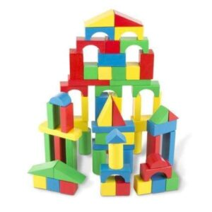 Melissa & Doug - 100 pc Wood Blocks Set