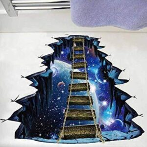 3D Wall or Floor Stickers - Outer Space Ladder
