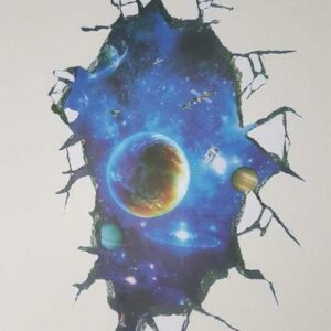 3D Wall or Floor Stickers - Outer Space Astronaut