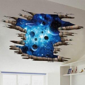 3D Wall or Floor Stickers - Blue Outer Space