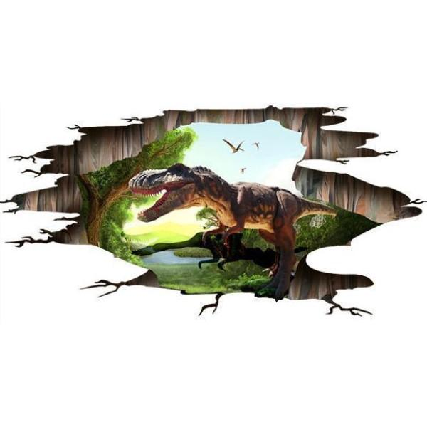 3D Wall or Floor Sticker - Dinosaur