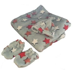 4aKid Fleece Baby Blanket Set - Assorted Colours and Designs
