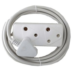 Alphacell White Extension Cord 10A - 3m