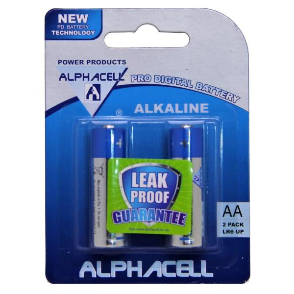 Pack of 3 Alphacell Pro Alkaline Digital Batteries - Size AA 2pc