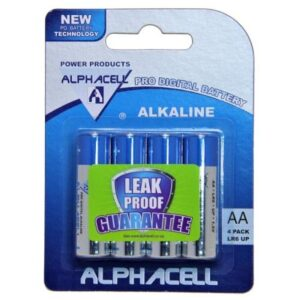 Pack of 3 Alphacell Pro Alkaline Digital Batteries - Size AA 4pc