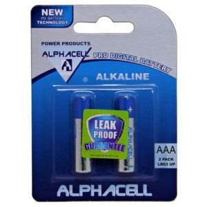 Pack of 6 Alphacell Pro Alkaline Digital Batteries - Size AAA 2pc