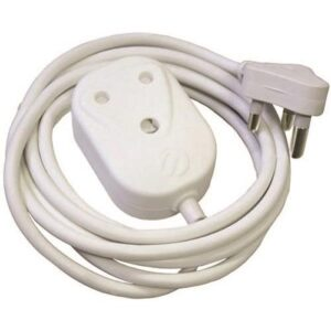 Alphacell White Extension Cord 16A - 3m