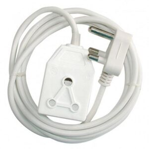 Alphacell White Extension Cord 16A - 5m