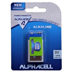 Pack of 6 Alphacell Pro Alkaline Digital Battery - Size 9V 1pc