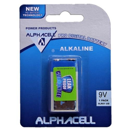 Pack of 3 Alphacell Pro Alkaline Digital Battery - Size 9V 1pc