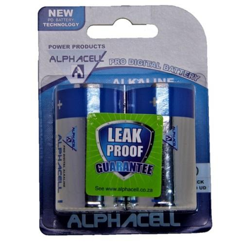 Pack of 3 Alphacell Pro Alkaline Digital Batteries - Size D 2pc