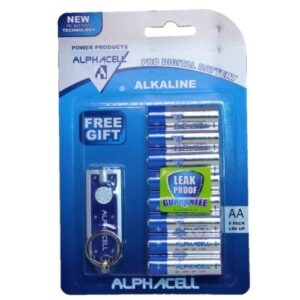 Pack of 3 Alphacell Pro Alkaline Digital Batteries - Size AA 8pc (with free gift)