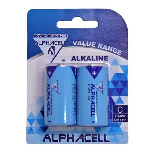 Alphacell Value Battery - Size C 2pc