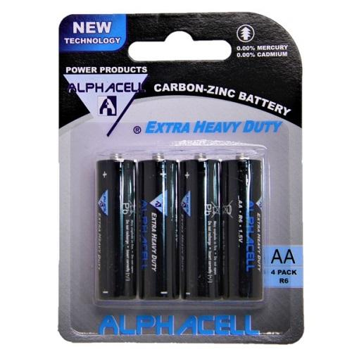 Alphacell Zinc Carbon Battery - Size AA 4pc