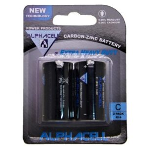 Alphacell Zinc Carbon Battery - Size C 2pc