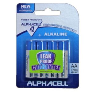 Alphacell Alkaline Pro Digital Battery - Size AA 4pc