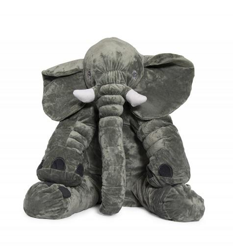 Grey Elephant Baby Pillow - Medium Size