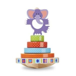 Melissa & Doug - Elephant Rocking Stacker