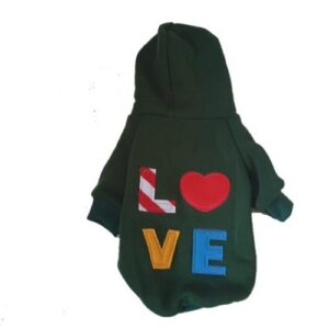 Green LOVE Dog Jacket
