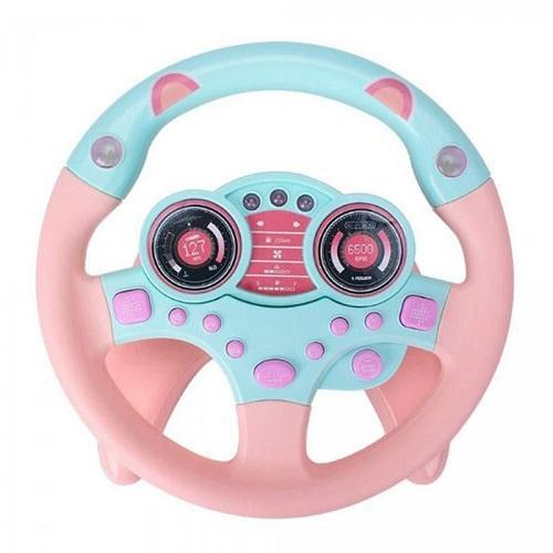 Kids Steering Wheel - Pink