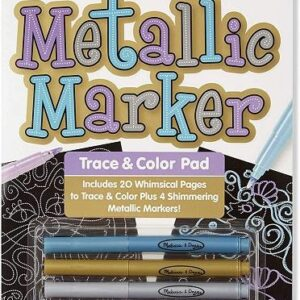 Melissa & Doug - Metallic Marker Trace and Colour Pad