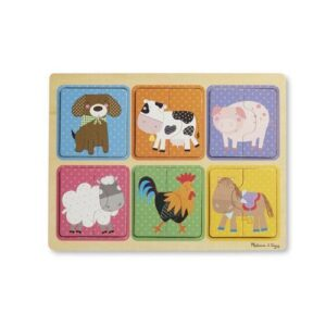 Melissa & Doug Natural Play Wooden Puzzle - Farm Friends