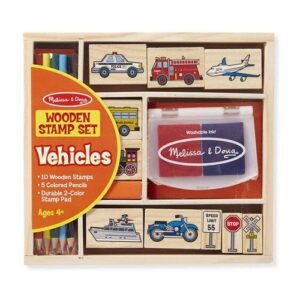 Melissa & Doug - Stamp Set Vehicles