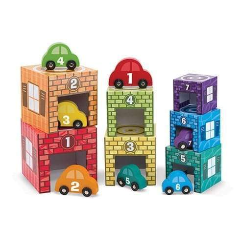Melissa & Doug Nesting & Sorting - Garages & Cars