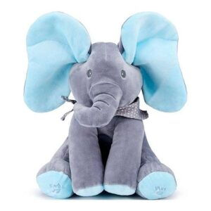 Plush Peekaboo Elephant - Blue