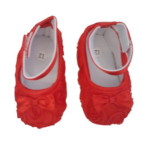 Smitten Baby Shoes Rosette - Red