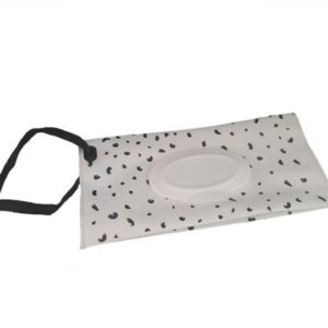 Reusable Wet Wipes Pouch - Black Dots
