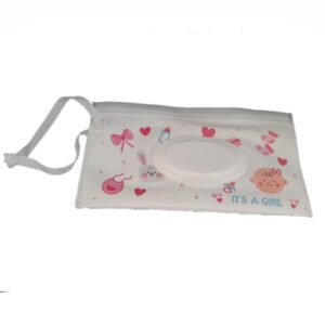 Reusable Wet Wipes Pouch - Pink Hearts & Bows