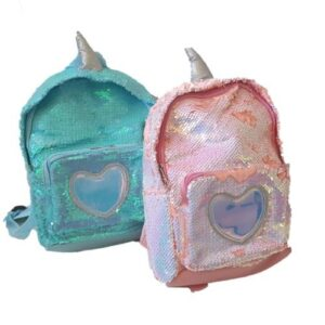Sequin Heart Backpack - Assorted Colours