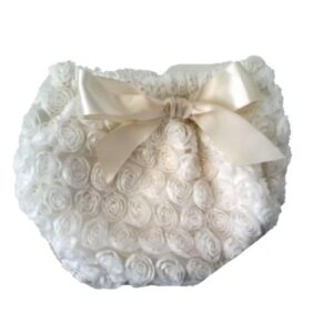 Smitten Rosette Diaper Cover - Cream 2-5 yrs
