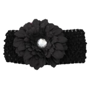 Smitten Headband - Black Large Daisy