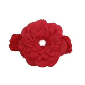 Smitten Headband - Red Large Daisy