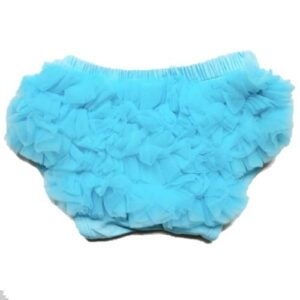 Smitten Ruffled Diaper Cover - Turquoise 2-4 yrs
