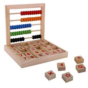 Wooden Abacus with Number Blocks