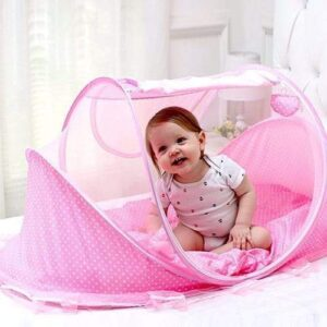 Large Baby Sleeping Tent - Pink