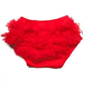 Smitten Ruffled Diaper Cover - Red 2-4 yrs