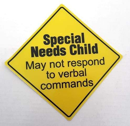 Sticker - Special Needs Child May Not Respond