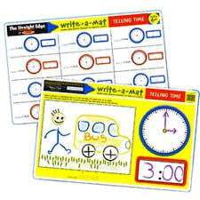 Melissa & Doug Color-A-Mat - Telling Time
